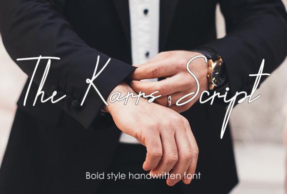 The Karrs Script Font