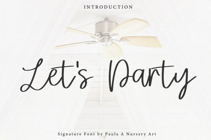 Let's Party | Signature Font