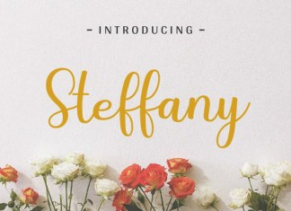 Steffany - Handwriting Font