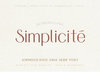 Simplicite' - Elegant Font