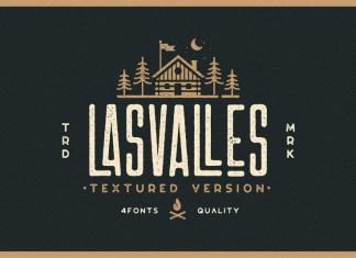 Las Valles Textured Typeface Font