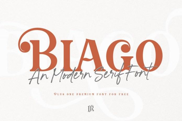 Biago Font + BONUS Font