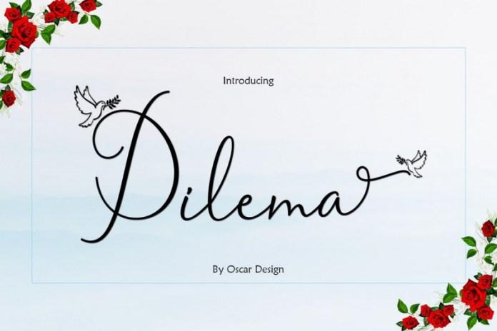 Dilema Script Font