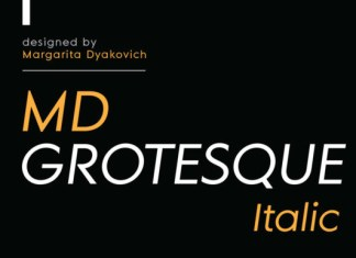 MD Grotesque Italic Font