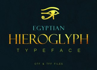 Egyptian Hieroglyph Typeface