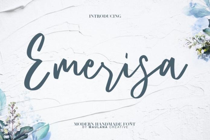 Emerisa Modern Brush Script