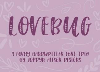 Lovebug Hearts Font Trio