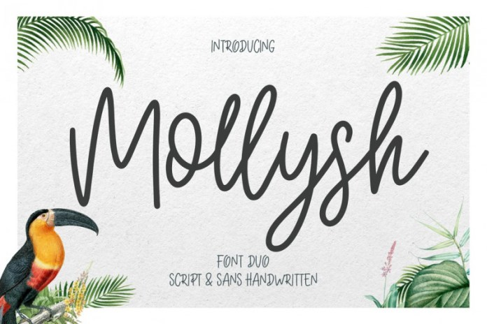 Mollysh Calligraphy Font