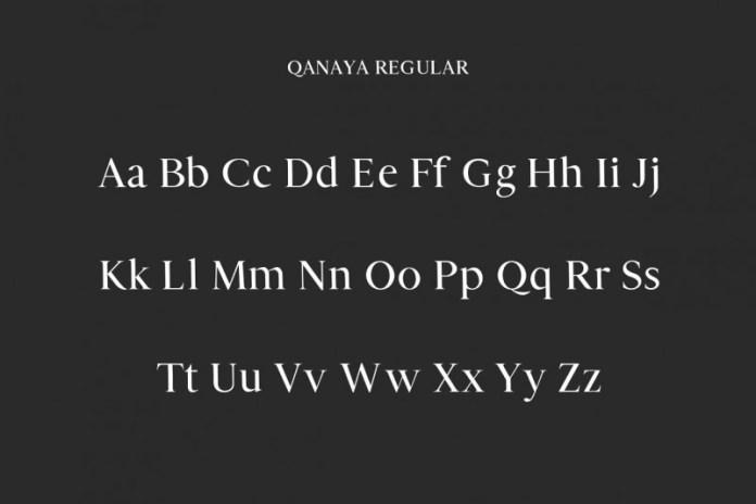 Qanaya Serif Font Family Pack