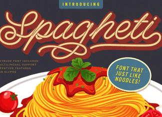 Spagheti Script - Stenciled Font