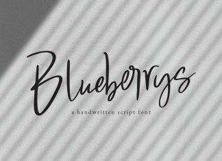 Blueberrys Signatures Font