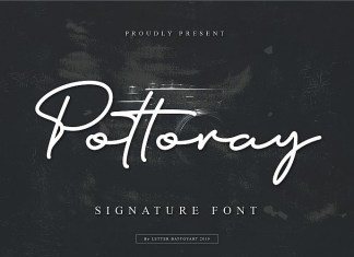 Pottoray - Signature Font