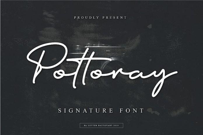 Pottoray - Signature Font