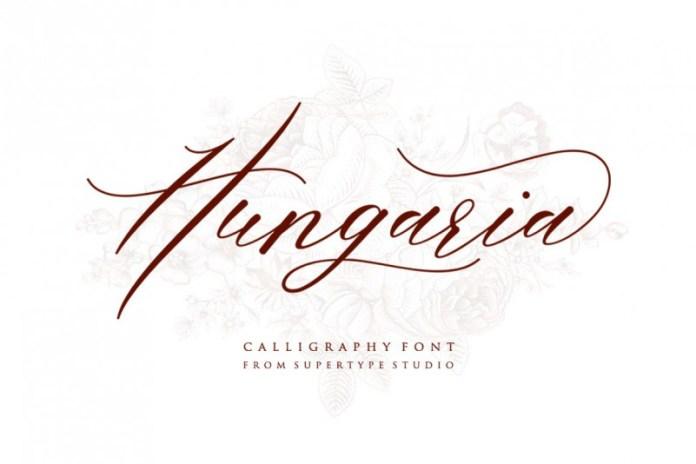 Hungaria Script Font