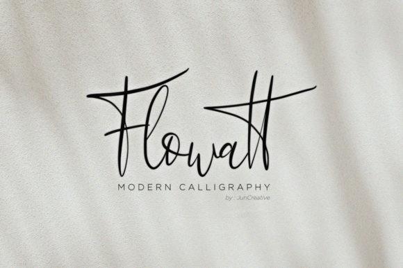 Flowatt Font