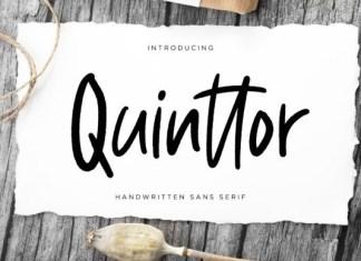 Quinttor Font