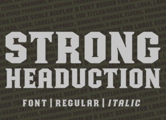 Strong Headucation Font