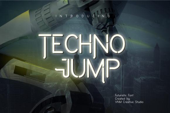 Techno Jump Font