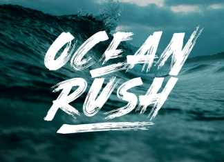 Ocean Rush Font