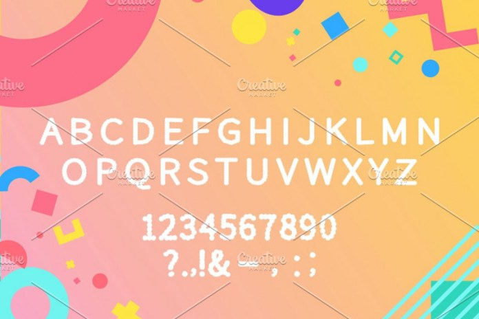 CLOUDY display font