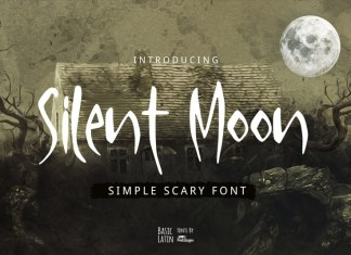 Silent Moon Scary Font