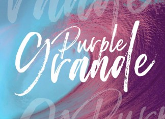 Purple Grande | Brush Script Font