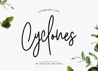 Cyclones Signature Font