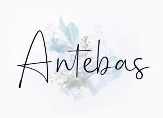 Antebas Font