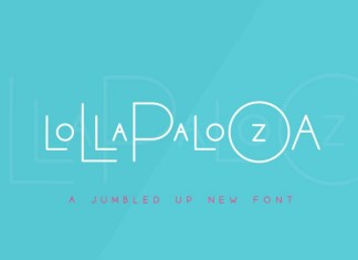 The Lollapalooza Font