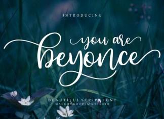 Beyonce Beauty Font