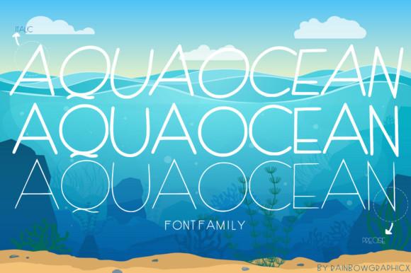 AquaOcean Font
