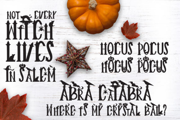Creepy Halloween Witches Font