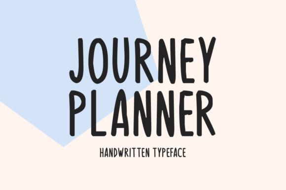 Journey Planner Font