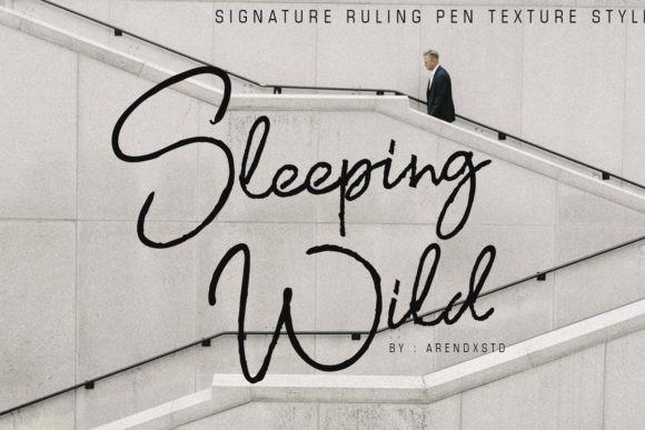 Sleeping Wild Font