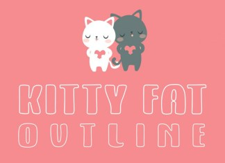 Kitty Fat Outline Font