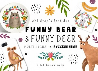 Funnybear & Funnydeer Font