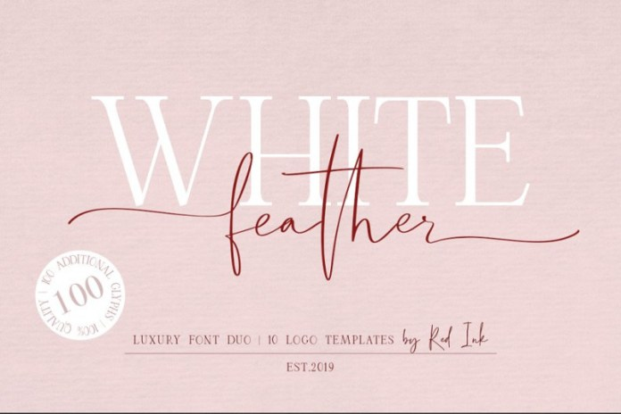 White Feather Font