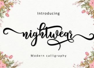 Nightwear Font