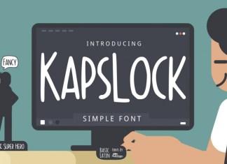 Kapslock Simple Font