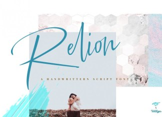 Relion Signature Font