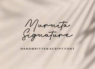 Murnita Signature Font