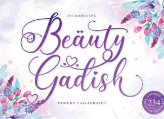 Beauty Gadish Font