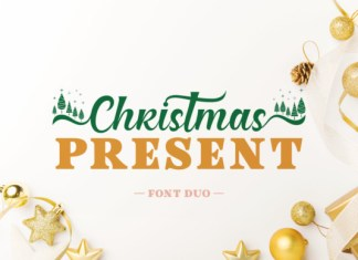 Christmas Present Duo Font