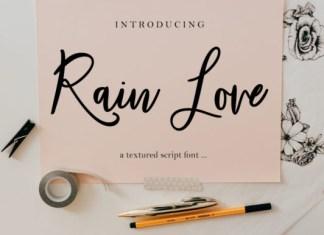 Rain Love Font