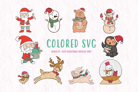 Cute Christmas Doodles Font