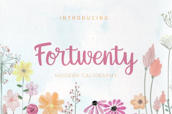Fortwenty Font