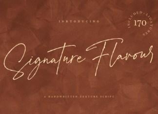 Signature Flavour Font