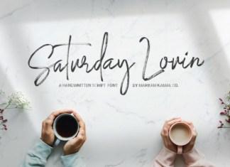 Saturday Lovin' Font