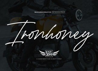 Ironhoney Signature Font