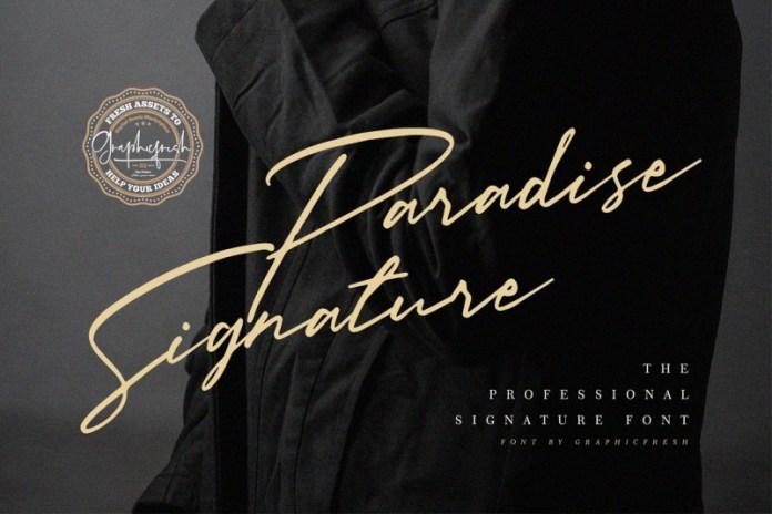 Paradise Signature Font